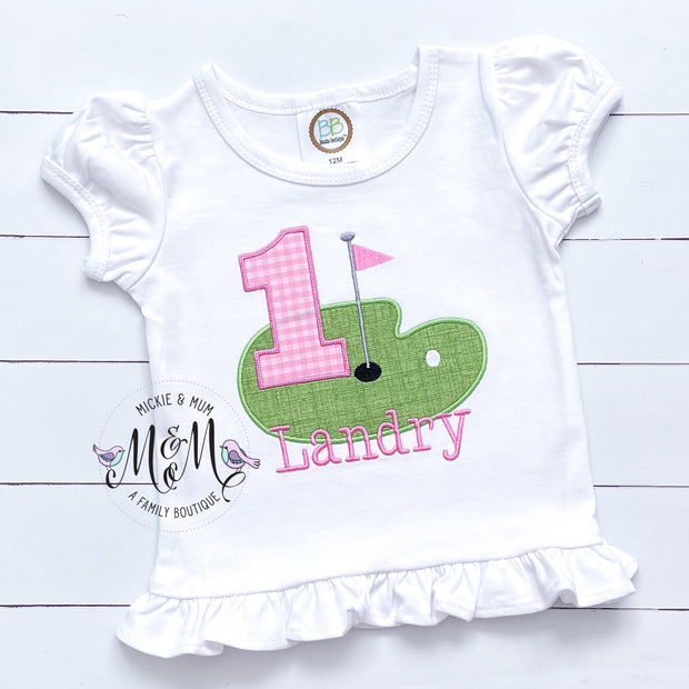 Birthday Girl Shirt - First Birthday Shirt - Golf Birthday Shirt - Hole in One Birthday