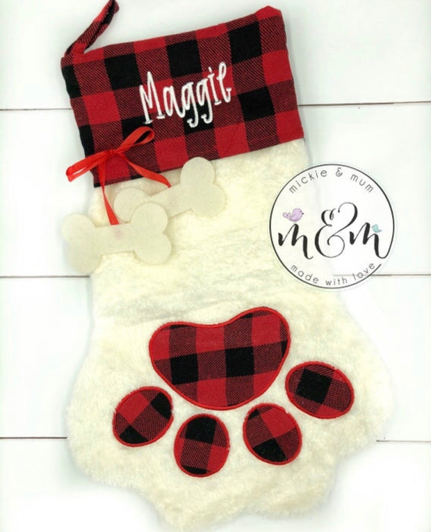 PRE-ORDER Pet Stocking - Dog Stocking - Cat Stocking - Mickie and Mum Personalized Baby Outfits