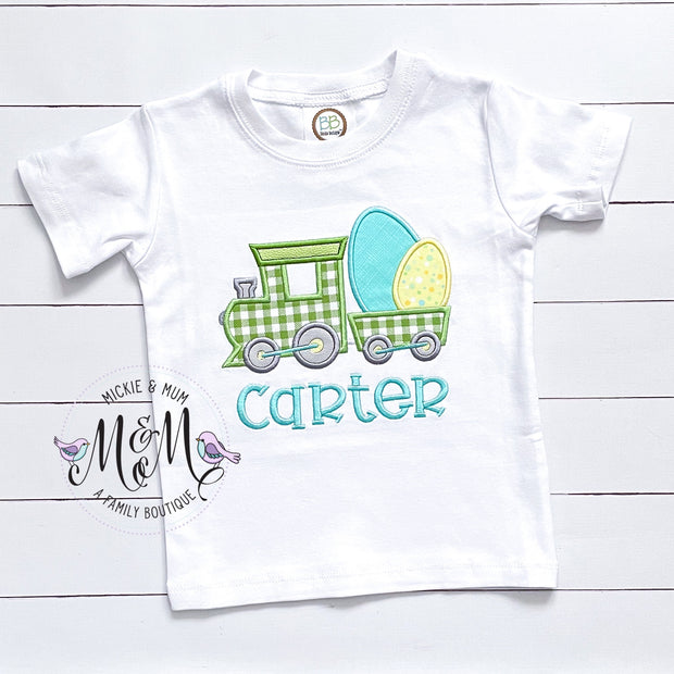 Easter Shirt for Boy - Easter Bunny Shirt - Train Shirt