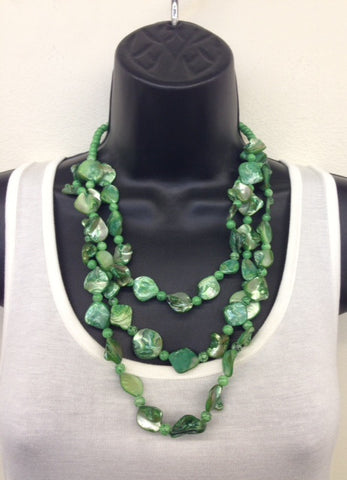 Necklace- Dye Shell with Beads