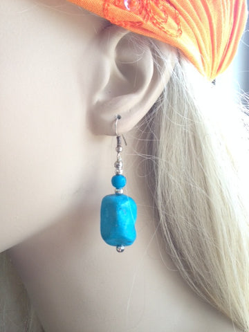 Earrings-Chunky Stone