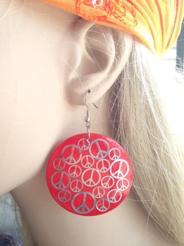 Earrings-Peace Sign