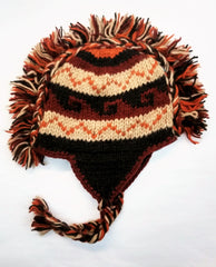 100% Wool Kid's Mowhawk Earflap Hat