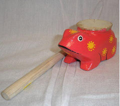 Instrument-Painted Frog Percussion