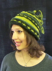 100% Wool Fleece Lined String Hat
