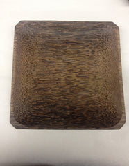 "Coconut Wood Plate 8""x8"""