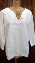 Simply White Kurta Tunic
