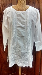 Simply White Crochet Tunic