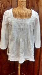 Simply White Embroidered Blouse