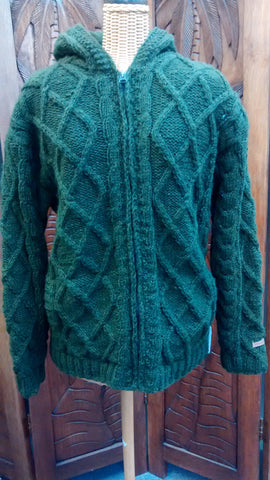 Nepal Wool Cable Knit Jacket