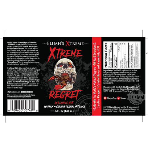 XTREME REGRET HOT SAUCE