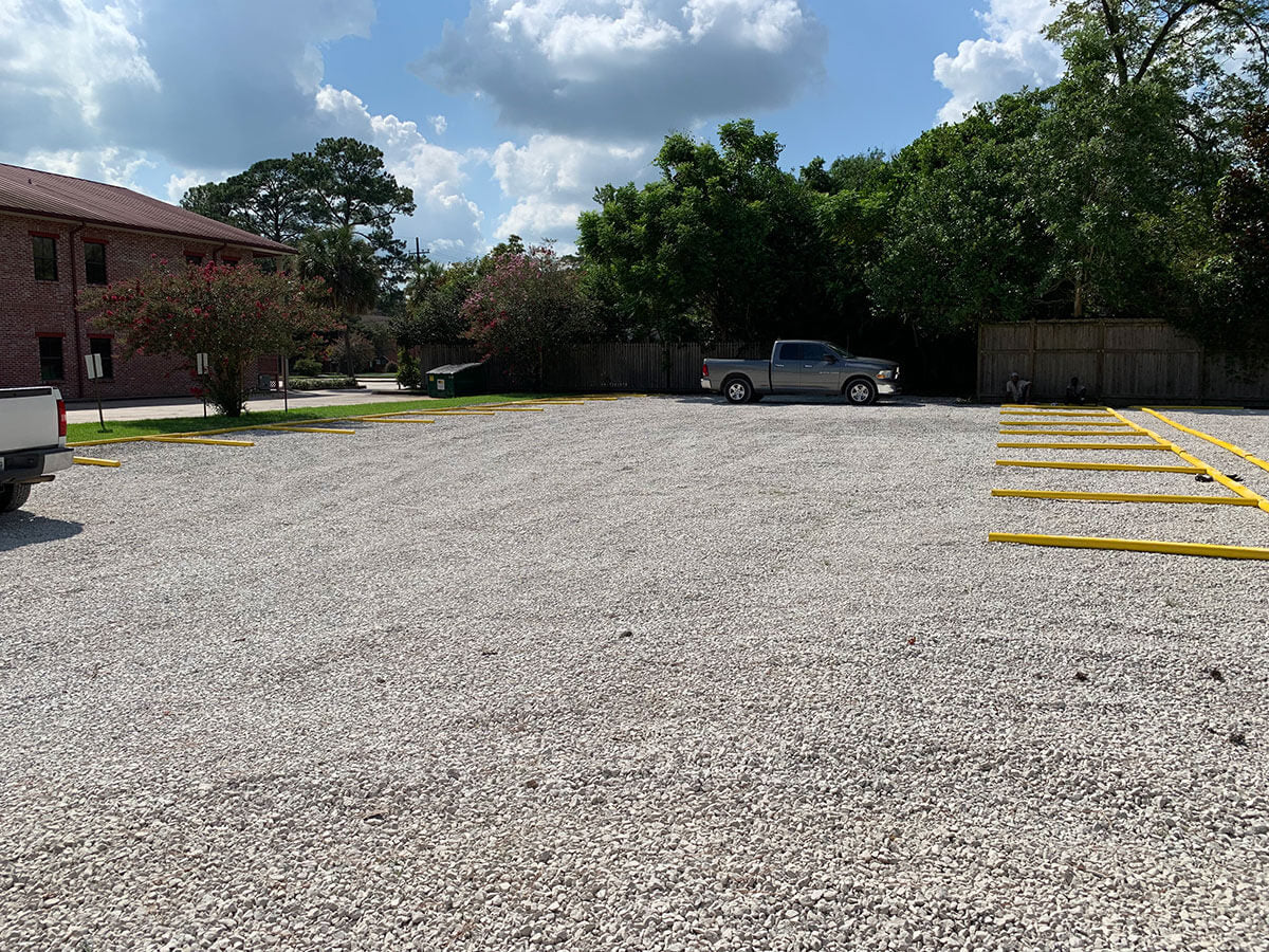 Parking lot spots at 301 Brook Avenue for UL Lafayette campus