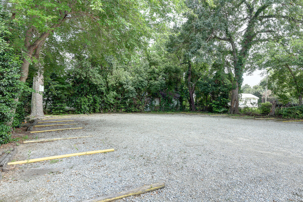 Parking lot spots at 403 McKinley Street for UL Lafayette campus