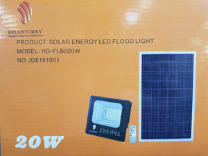 Hello Today - 20W Solar LED Floodlight (HD-FLB020W)