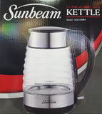 Sunbeam - 1.7L Stainless Steel Ribbed Glass Kettle - SGK-2200RA