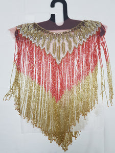 Beaded Tops - Red & Gold