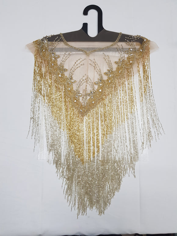 Beaded Tops - Gold & Bone