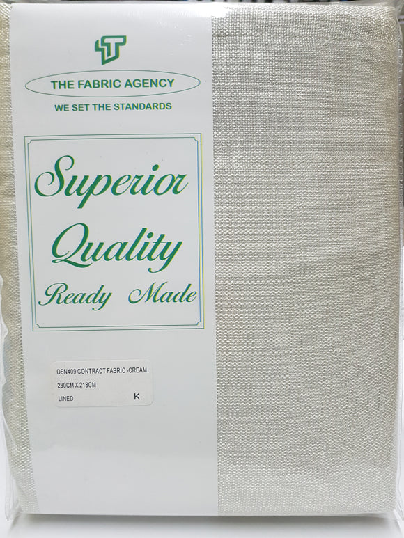 The Fabric Agency - Superior Quality Ready-made Curtain (Eyelet/Tape) - Cream