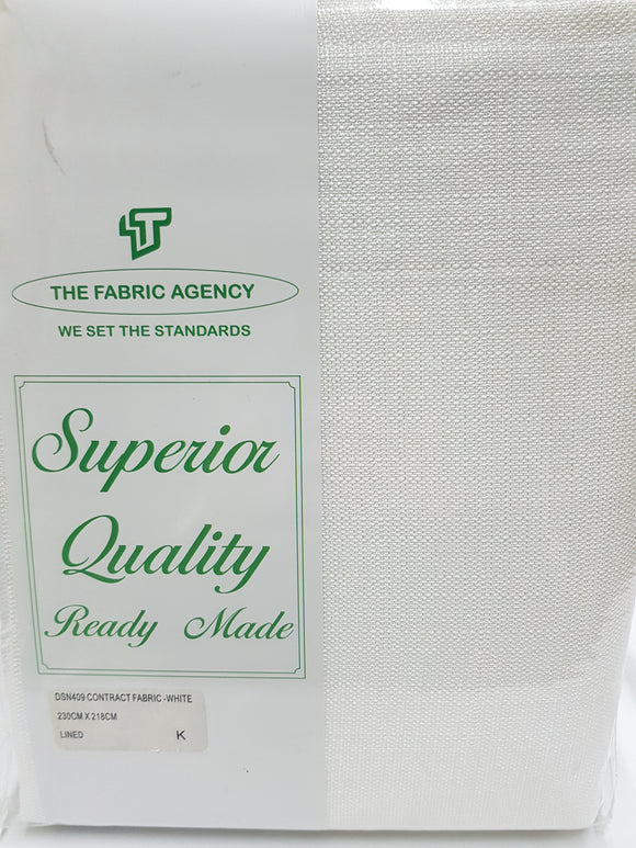 The Fabric Agency - Superior Quality Ready-made Curtain (Eyelet/Tape) - White