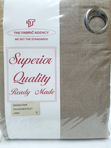 The Fabric Agency - Superior Quality Ready-made Curtain (Eyelet/Tape) - Fawn