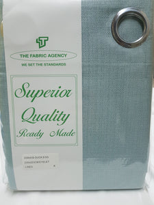 The Fabric Agency - Superior Quality Ready-made Curtain (Eyelet/Tape) - Duck Egg