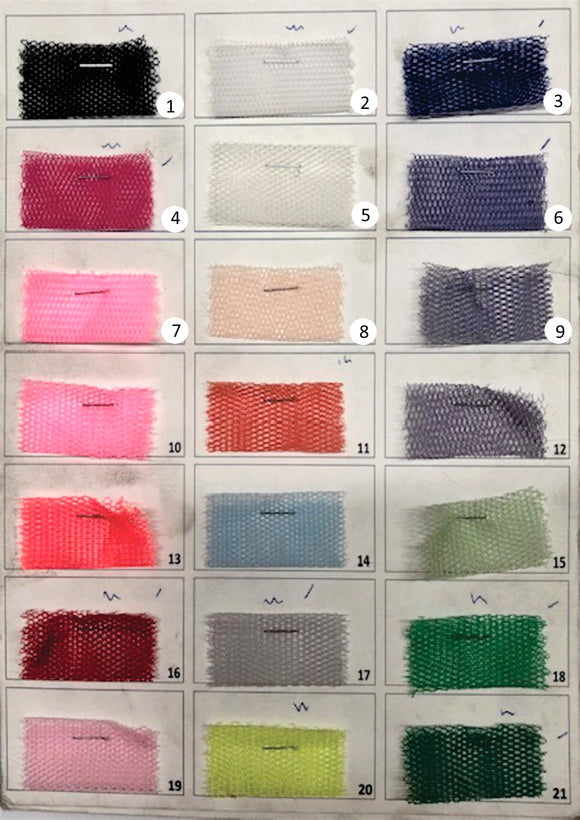 Hard Tulle Net (FF9) - Various Colours - 150cm