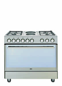 DEFY - Gas Electric Range Cooker 4 - Stainless Steel