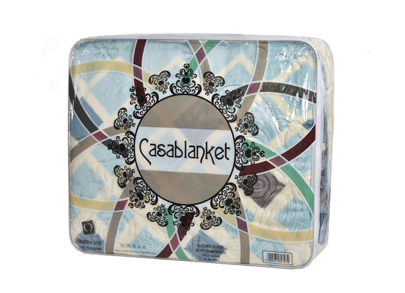 Casablanket Mink Blanket 1 Ply - Assorted Colours & Designs - Queen