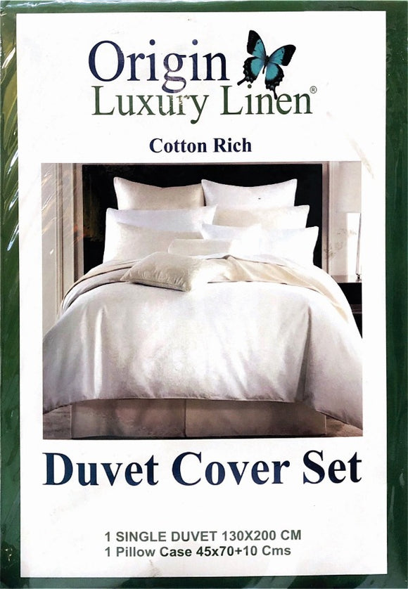 Origin Luxury Linen - Duvet Cover Set (Cotton Rich) - Various Sizes & Colours