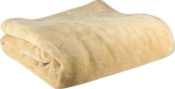 Lilly Mink Plain Hotel Blanket - Assorted Sizes - Beige