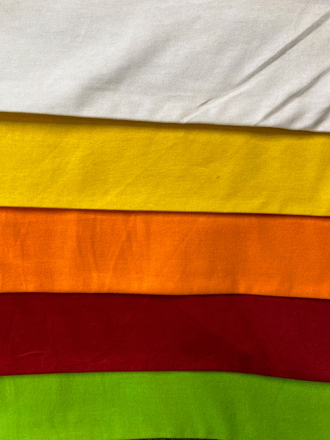 T/C Single Jersey Plain Dyed - Assorted Colours - 180CM