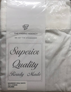 The Fabric Agency - Bordered Voile - White / Cream