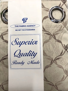 The Fabric Agency - Superior Quality Ready-made Curtain (Eyelet/Tape) - DSN643