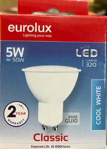 LED Down Light - 5W - Cool White - Pin Cap - (GU10-5W-320lm)