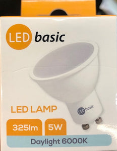 LED Lamp Light - 5W - Frosted White - Pin Cap - (GU10-5W-325lm)