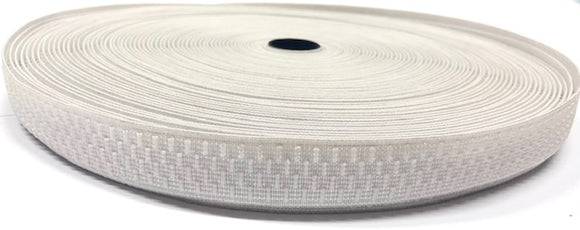 Non Curl Elastic - 19mm - White