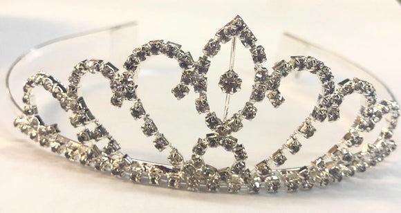 Diamante Bridal Crown - White Swan