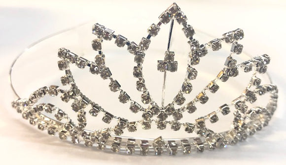 Diamante Bridal Crown - White Lotus