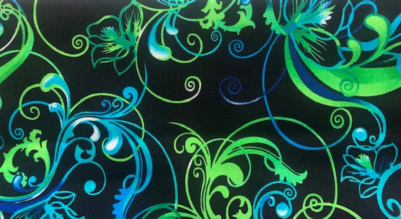 Printed Shiny Nylon Lycra - Assorted Designs - 150CM