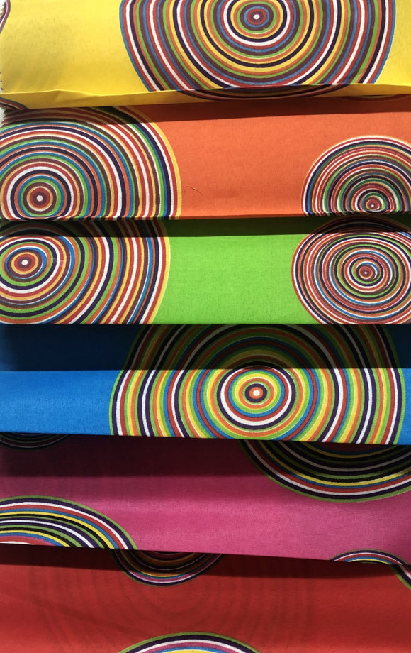 Venda Print (Polycotton) - Circle Design - Various Colours - 110cm