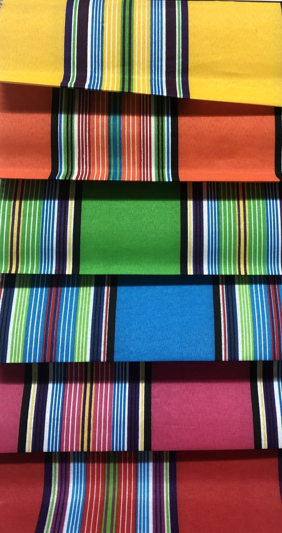 Venda Print (Polycotton) - Striped Design - Various Colours - 110cm