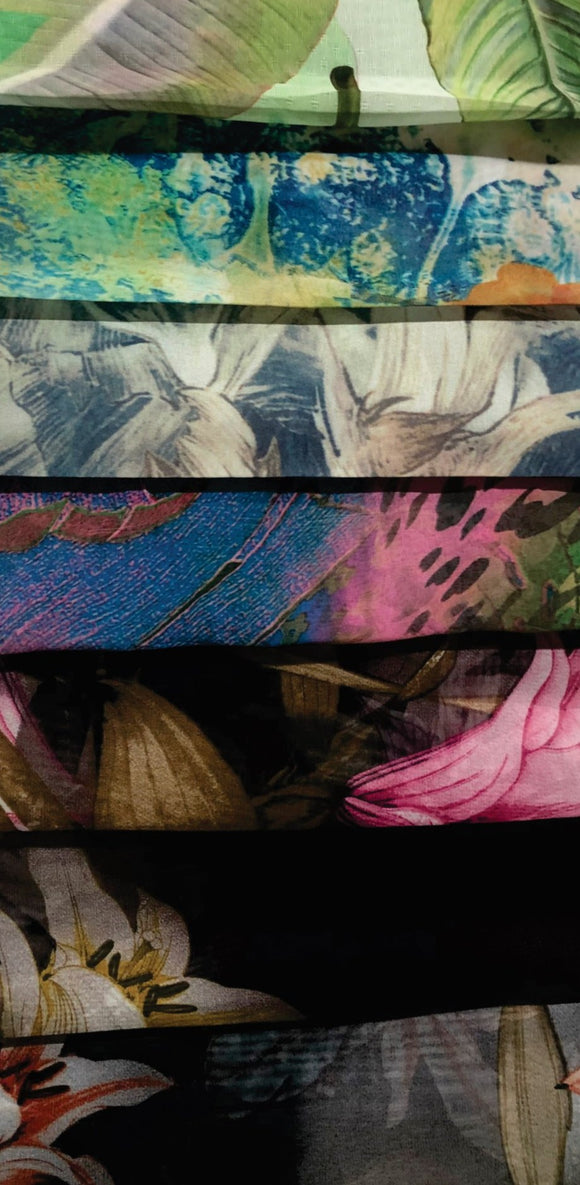 Printed Chiffon - Various Designs & Colours - 150cm