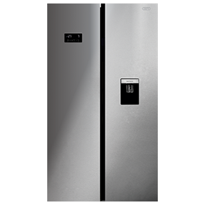 DEFY - F790 Eco E WD M Side-by-Side Fridge / Freezer - Silver