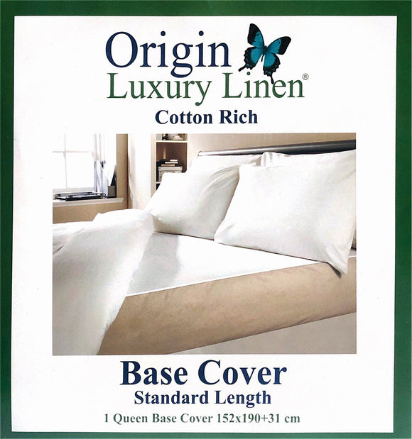 Origin Luxury Linen - Base Cover (Cotton Rich) - Various Sizes & Colours