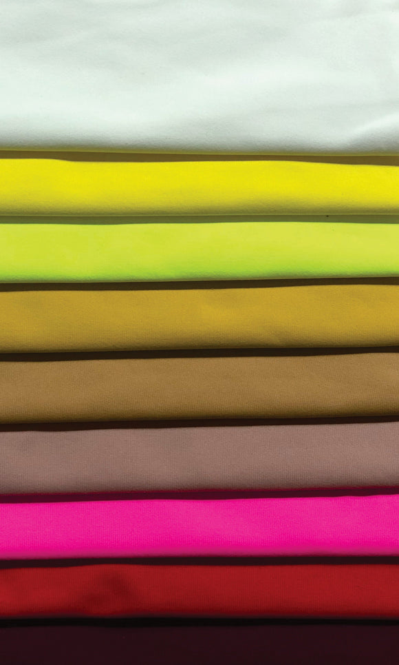Plush Lycra (Nylon) - Various Colours - 150cm