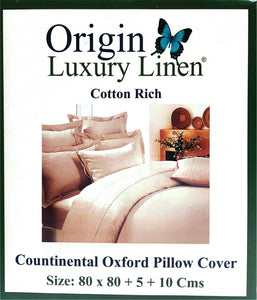 Origin Luxury Linen - Continental Oxford (Frilled) Pillow Cover - Various Colours