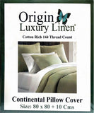Origin Luxury Linen - Continental Pillow Cover - Various Colours