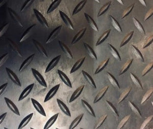 Rubber Mat (per Meter) - Check Pattern - 3mm Thick, 150cm Wide