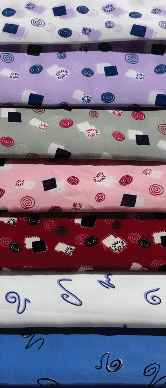 Koshibo Printed (Corporate Wear), Selection 2 - Various Designs & Colours - 150cm