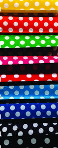 Printed Polycotton, Polka Dot Design - Various Colours - 115cm